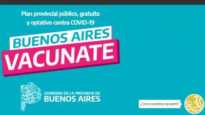 Ratifican que provincia de Buenos Aires recibirá 123 mil dosis de vacunas contra el coronavirus