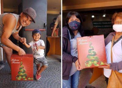El Sindicato Municipal entregó 1150 cajas navideñas a sus afiliados