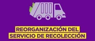 Residuos: se retomará la recolección nocturna los días sábados