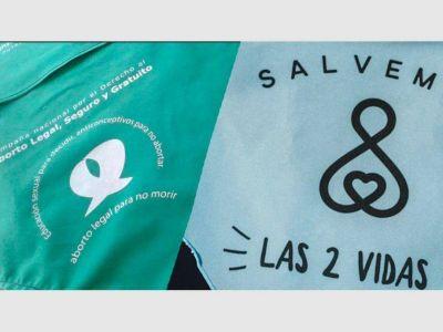 Aborto: 'celestes' y 'verdes' harán una maratónica vigilia en San Juan