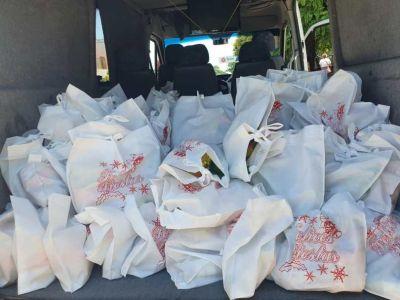 La JSP Bahía Blanca despide el año con nueva caravana y entrega de 500 Bolsas Navideñas
