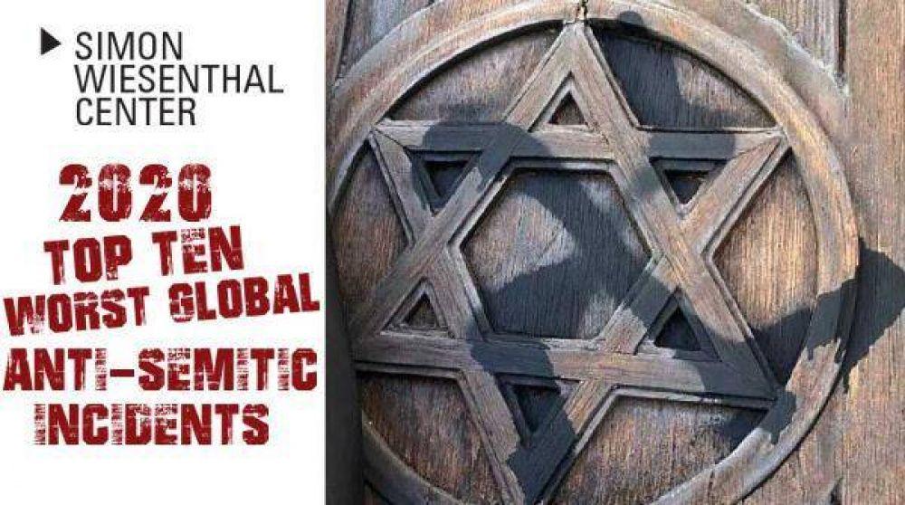 Los diez peores incidentes antisemitas globales del 2020