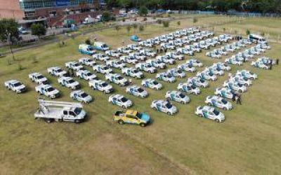Almirante Brown: Presentaron 113 patrulleros y equipamiento para seguridad