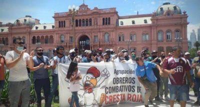 Nueva protesta y acampe de los trabajadores despedidos de Cresta Roja