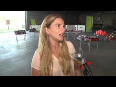 San Fernando: Eva Andreotti y Gustavo Aguilera entregaron kits deportivos y equipamiento a clubes