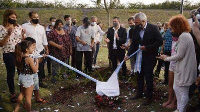 Julio Zamora inauguró una nueva senda peatonal y aeróbica en Don Torcuato