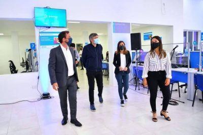 Con Raverta y Máximo Krichner, Sujarchuk inauguró la nueva oficina de ANSES en Garín