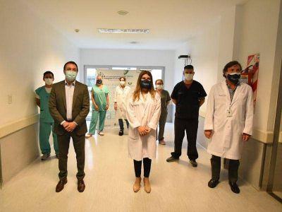 Watson supervisó la histórica campaña de vacunación contra el coronavirus en Florencio Varela