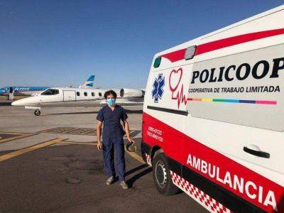 Policoop realiza traslados de pacientes de alta complejidad hacia vuelos sanitarios