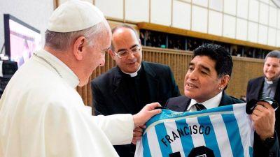 El papa Francisco recordó a Maradona: