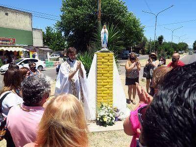 El Municipio de Brown repuso la Virgen de Don Orione