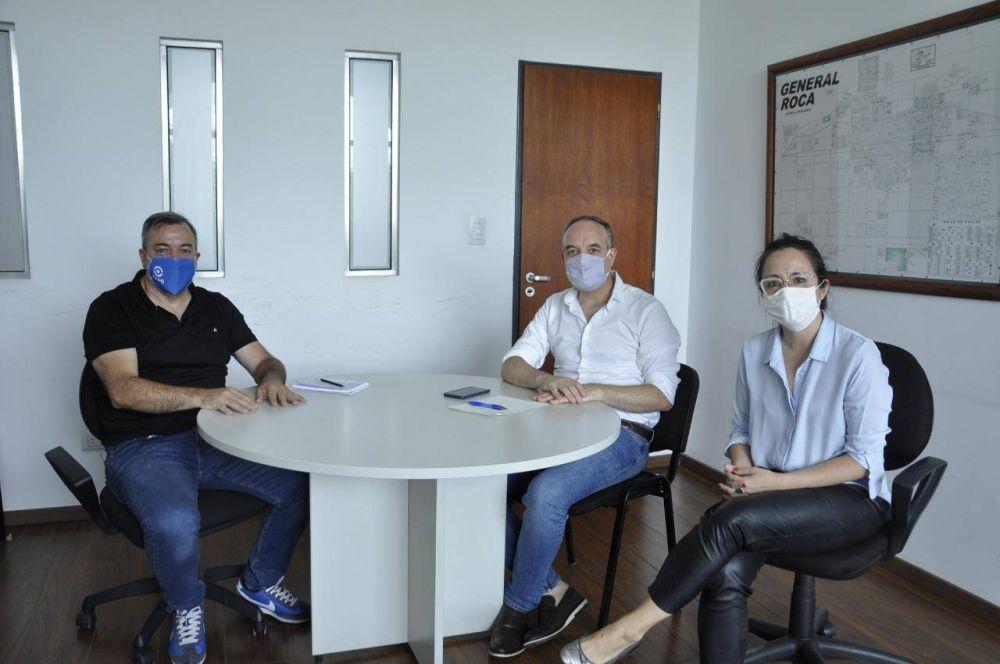 """Aguiar se reunió con Doñate y destacó la """"plena prestación de servicios"""" durante la pandemia"""
