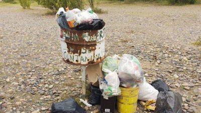 En China Muerta sacaron más de dos toneladas de basura