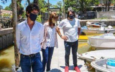 Andreotti visitó la última etapa del nuevo Muelle Público de San Fernando