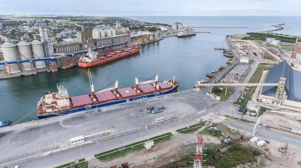 Puerto Quequén cierra el 2020 con más de seis millones y medio de toneladas