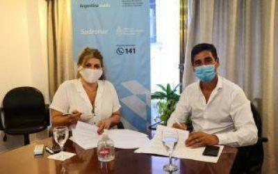 Adicciones: Sedronar y el municipio de Punta Indio firmaron un convenio para articular abordaje