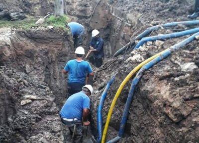 ABSA informó sobre el avance de la etapa final del acueducto de hierro