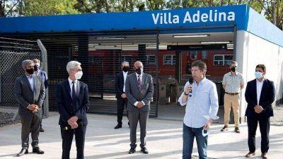 Posse y Meoni inauguraron la renovada estación de Villa Adelina