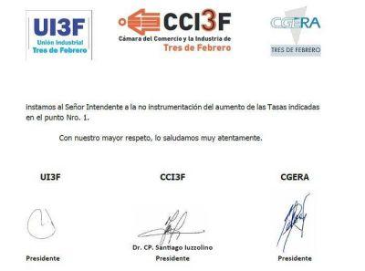 Reacción de las Cámaras de Tres de Febrero a la Fiscal a Impositiva de Valenzuela