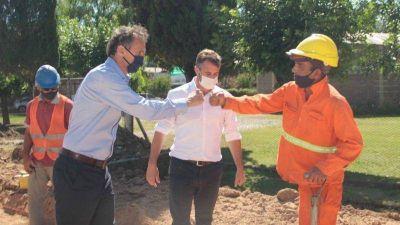 El ministro de Obras Públicas recorrió las obras de la Ruta 25