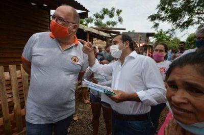 Posadas: el gobernador de Misiones, Oscar Herrera Ahuad gestionó infraestructura para el barrio Las Tacuaritas