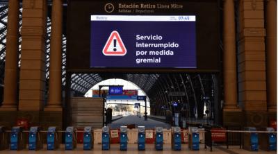 Rige alerta para el servicio de trenes, que se podría ver afectado por un reclamo sindical