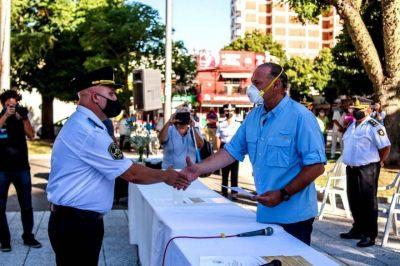 Berni y Alessandro encabezaron el aniversario 199 de la Policía de la Provincia en Salto
