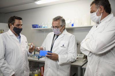El Presidente recorrió los laboratorios de la Universidad de San Martín donde se desarrolló el suero hiperinmune anti COVID-19