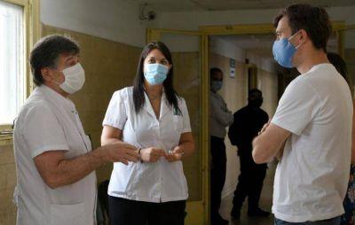 Lucas Ghi participó de una nueva jornada de vacunación en el Hospital Güemes de Haedo