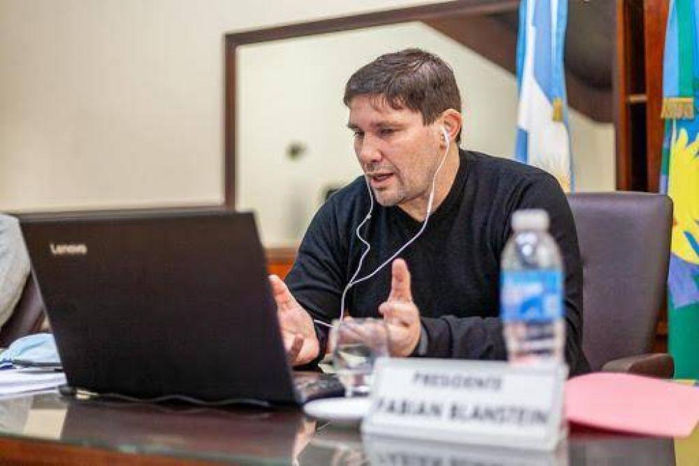 Fabián Blanstein mantuvo una videoconferencia con Axel Kicillof