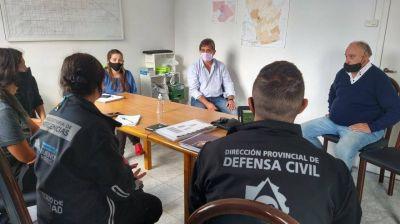 Lobería: el intendente mantuvo un encuentro con autoridades de seguridad y defensa civil de la Provincia