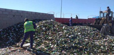 Desde Viedma partieron más de 26.000 kilos de vidrio para su reindustrialización