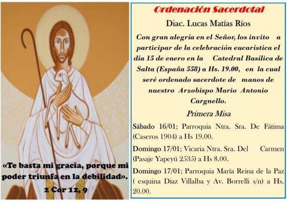La arquidiócesis de Salta tendrá un nuevo sacerdote