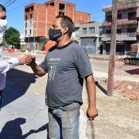Fernando Moreira recorrió las obras de la avenida Illia, en Villa Maipú