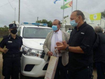 Con el ministro Berni, presentan la nueva flota de móviles policiales en Tres Arroyos