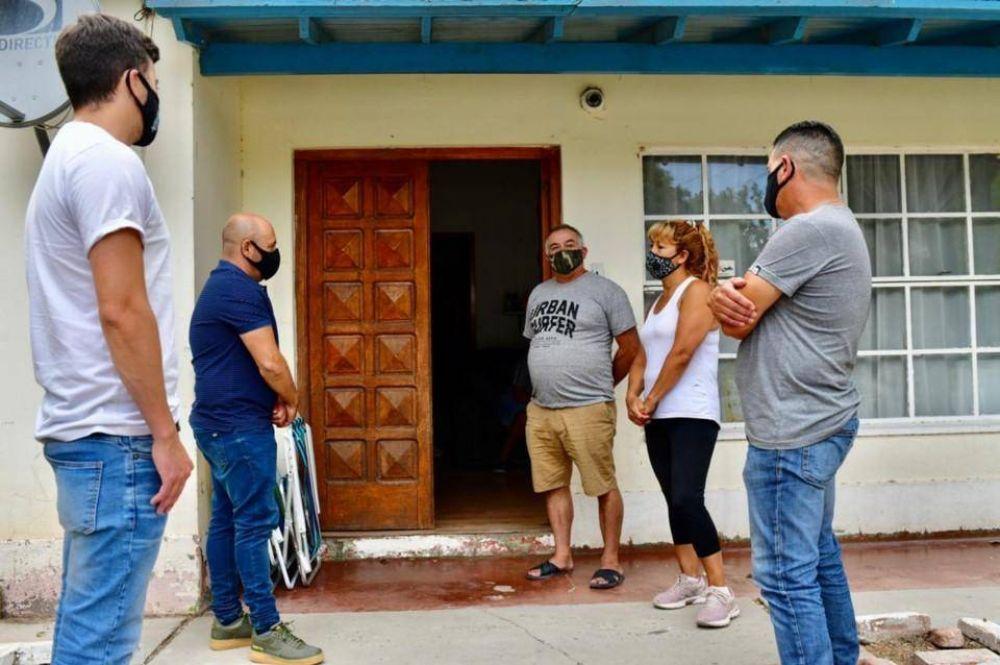 Ricardo Sastre analizó la temporada en el Dique Ameghino y visitó a los padres de Bruno Muñoz
