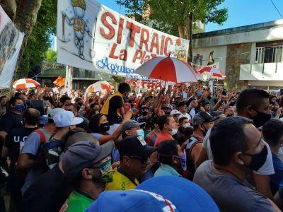 En medio de la crisis de la Uocra, la CTA desembarcó en La Plata con su gremio para la construcción