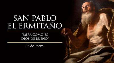 Hoy se recuerda a San Pablo el ermitaño, quien se alejó del mundo por salvarlo