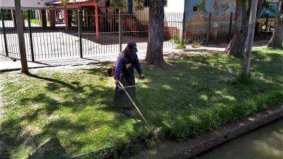El Municipio realizó trabajos de limpieza integral en instituciones educativas del Delta de Tigre