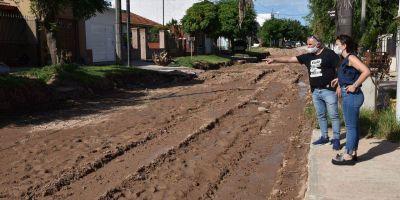 Casaretto destacó que el barrio Malvinas dejará de tener calles de tierra