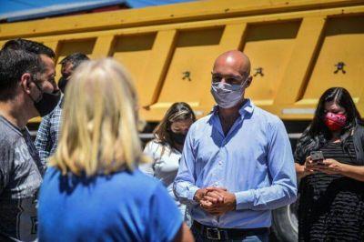 Beto Ramil supervisó importantes obras de asfalto en las localidades de Garín y Matheu