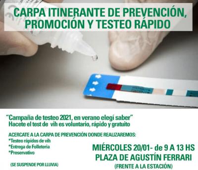Merlo: testeo de HIV gratuito en los barrios