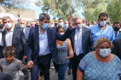En San Juan, el presidente anunció la reconstrucción de todas las viviendas afectadas por el terremoto
