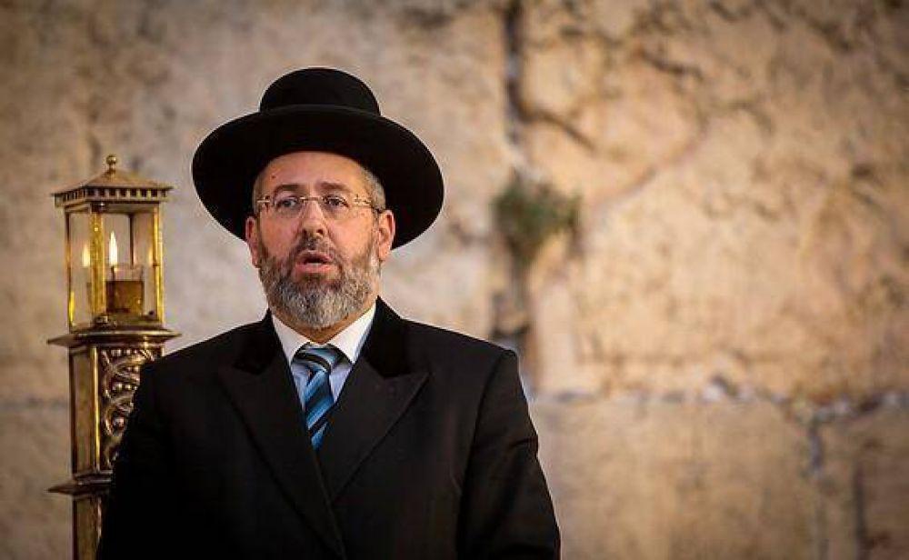 El Gran Rabino Lau convocó a un día de oración y ayuno por la pandemia