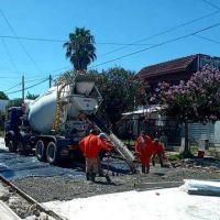Merlo: avanzan obras de pavimentación en Parque San Martín