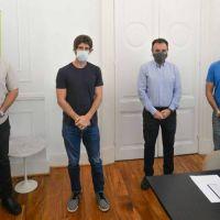 Andreotti recibió a autoridades del ERAS y AYSA por la Tarifa Social y Comunitaria para clubes de San Fernando