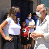 Grindetti y Galmarini habilitaron obras cloacales en el barrio Gonnet