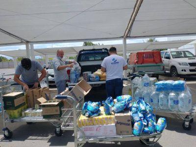 Tras el terremoto en San Juan, ASIJEMIN entregó donaciones a la población de Los Berros