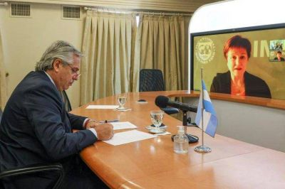 Alberto Fernández dialogó con Kristalina Georgieva sobre la deuda externa, la agenda global y la asunción de Joseph Biden