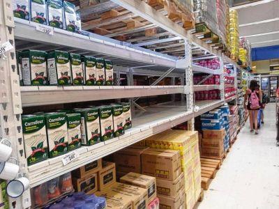 Hay faltante de productos en las góndolas de Neuquén y Río Negro